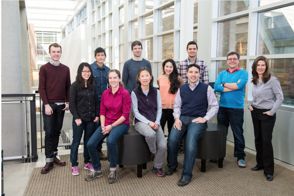 The Molecular Information Systems Lab research team: Front (left to right): Bichlien Nguyen, Lee Organick, Hsing-Yeh Parker, Siena Dumas Ang, Chris Takahashi. Back (left to right): James Bornholt, Yuan-Jyue Chen, Georg Seelig, Randolph Lopez, Luis Ceze, Karin Strauss. Not pictured: Doug Carmean, Rob Carlson, Krittika d'Silva. Credit: Tara Brown Photography/University of WashingtonTara Brown Photography/University of Washington