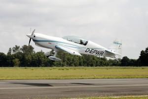 Siemens' wereldrecord elektromotor maakt eerste vlucht (Siemens persfoto).